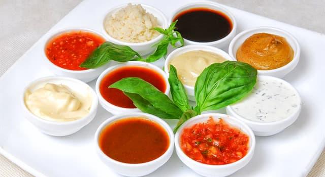 Kultura Pytanie-Ciekawostka: Który sos jest stałą mieszaniną oleju, żółtek i octu?