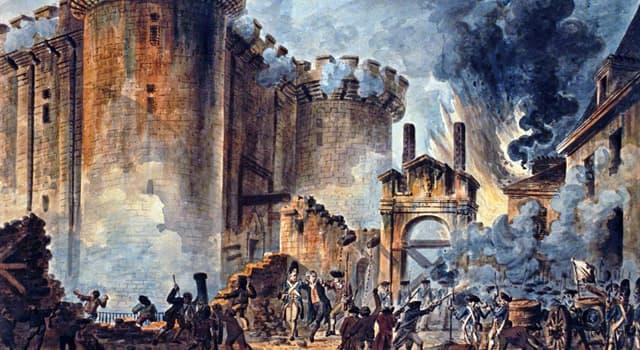 historia Pytanie-Ciekawostka: Szturm na Bastylię był częścią którego wydarzenia historycznego?