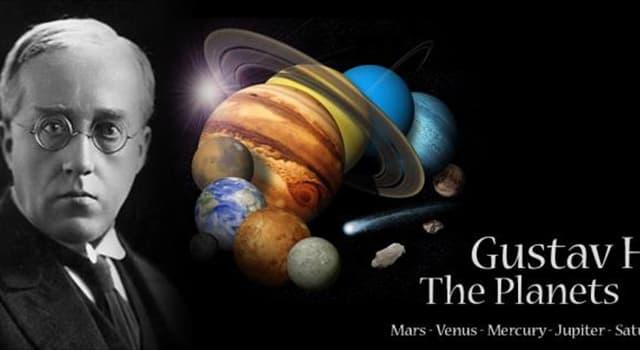 """Kultura Pytanie-Ciekawostka: W suicie symfonicznej Gustava Holsta """"Planety"""", która planeta jest """"zwiastunem wojny""""?"""