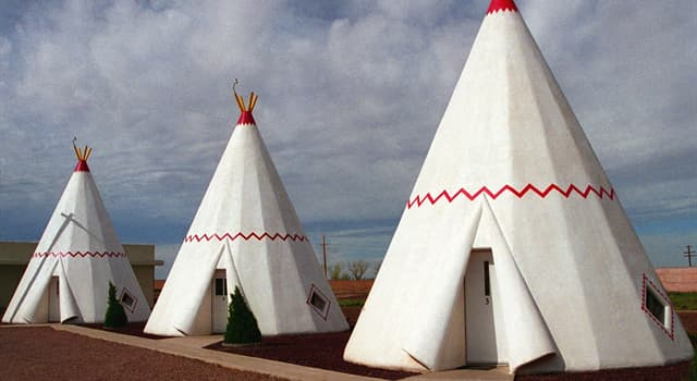 Culture Trivia Question: What is a dome-shaped shelter, covered in bark or hides, built and used by Native Americans called?