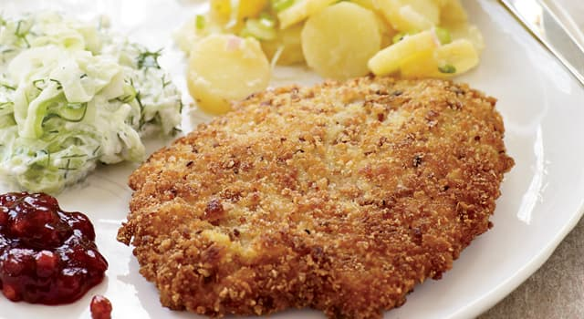 Culture Trivia Question: What meat is used to make a classic wiener schnitzel?