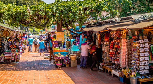 Geography Trivia Question: Where is Olvera Street located?