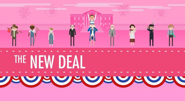"""History Trivia Question: Which American President enacted the famous """"New Deal""""?"""