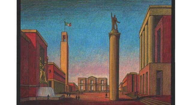 "Culture Trivia Question: Which artist founded the ""scuola maetafisica"" art movement?"