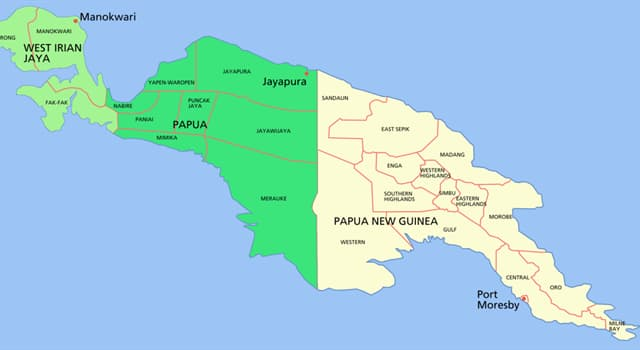 History Trivia Question: Which country did Papua New Guinea gain it's independence from in 1975?
