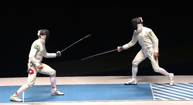 Sport Trivia Question: Which of these is not used in fencing?