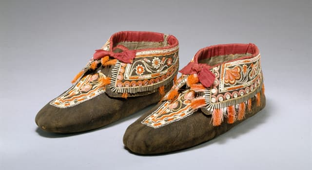 Culture Trivia Question: Which of these is the footwear of many indigenous people of North America?