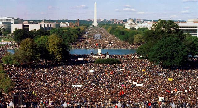 History Trivia Question: Who led the Million Man March on Washington, D.C.?