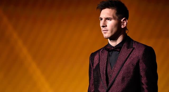 sport Pytanie-Ciekawostka: Z jakiego sportu znany jest Lionel Messi?