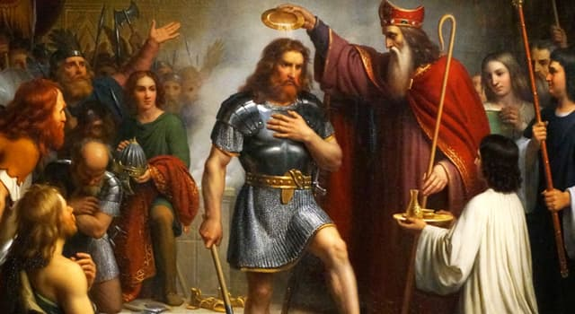 History Trivia Question: Clovis I was the first king to rule over all the tribes of which ancient people?