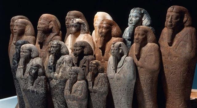 History Trivia Question: In Ancient Egypt, which funerary figurines intended to act as servants or minions for the deceased?