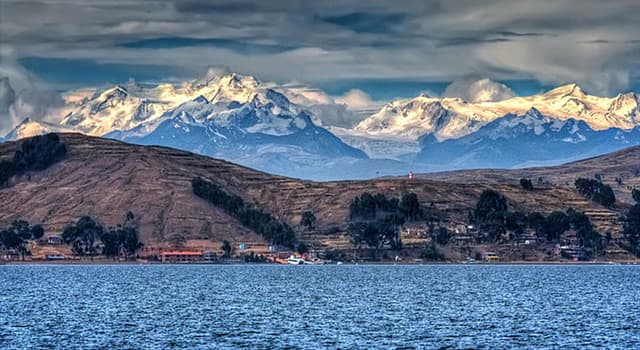 Geography Trivia Question: Lake Titicaca is located on the borders of which two countries?