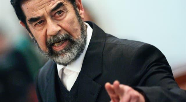Суспільство Запитання-цікавинка: Президентом якої країни був Саддам Хусейн?