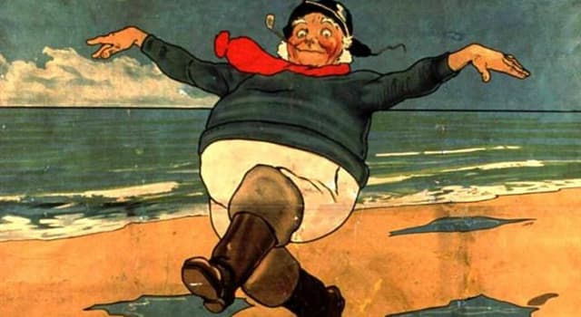 """Geography Trivia Question: The """"Jolly Fisherman"""" (pictured) is the emblem of which English seaside town?"""