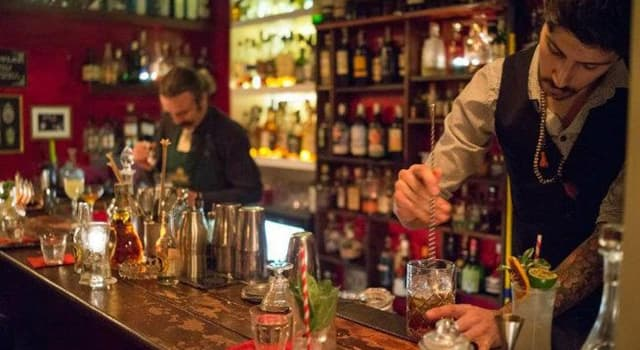 Culture Trivia Question: What is the name given to a cocktail when you mix crème de menthe & brandy?