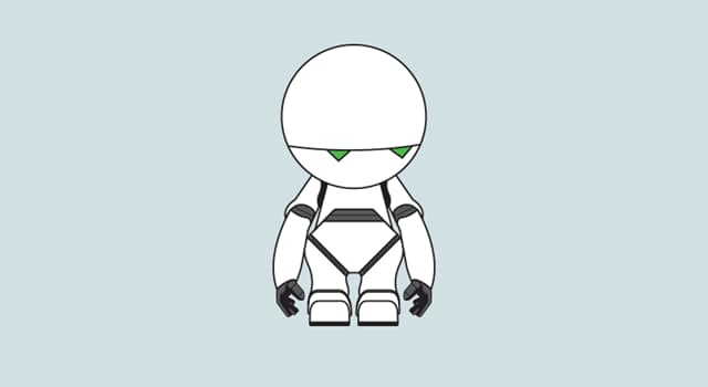 """Movies & TV Trivia Question: What is the name of the hyper-intellectual robot in the """"Hitchhiker's Guide to the Galaxy"""" series?"""