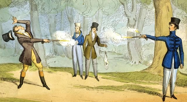 History Trivia Question: When did The Duel of the Mignons take place?