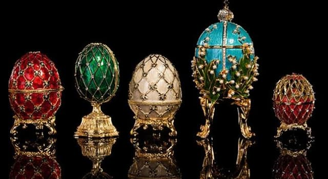 Culture Trivia Question: Which company was known for creating these gold eggs?
