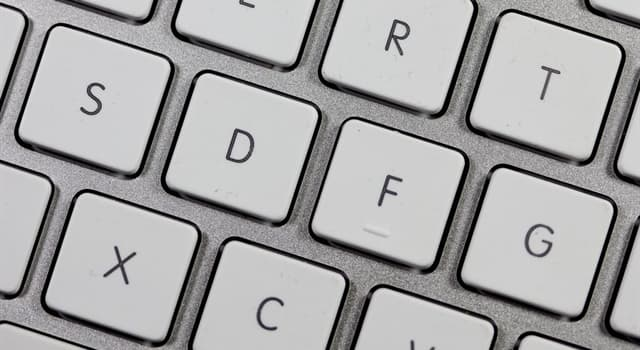 Society Trivia Question: Which is the only vowel on most computer keyboards that is not on the top line of letters?