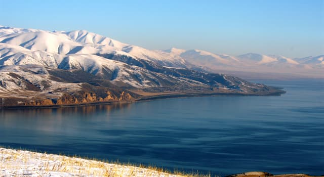 Geography Trivia Question: Which lake is the largest in the Caucasus?