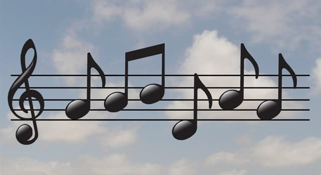 """Culture Trivia Question: Which musical symbol means """"lower in pitch""""?"""