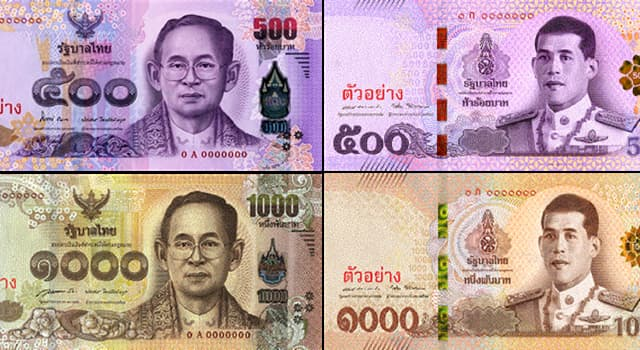 Society Trivia Question: Which of these countries produced some 'Thai banknotes and coins'?