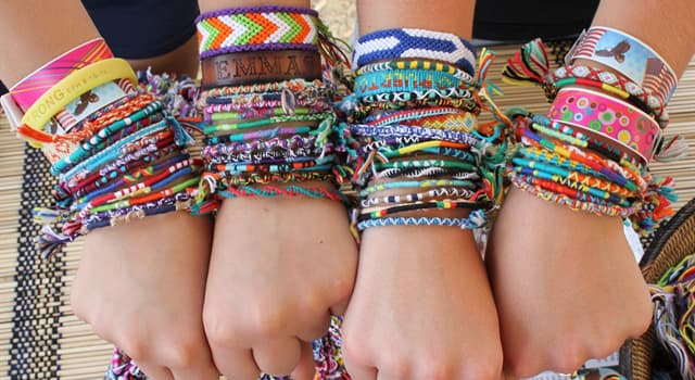 Culture Trivia Question: Which of these is a decorative bracelet, a type of macrame?
