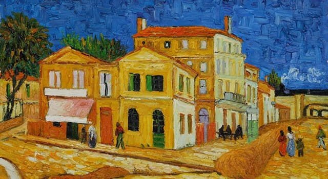 """Culture Trivia Question: Who is the painter of """"The Yellow House""""?"""