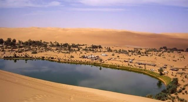 """Geography Trivia Question: According to Guinness World Record, where is the largest """"self contained"""" oasis in the world?"""