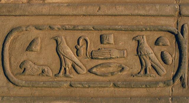 Культура Запитання-цікавинка: Як називається контур навколо давньоєгипетських ієрогліфів, зображений на фото?
