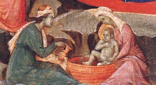 Історія Запитання-цікавинка: Як звали згадувану в християнських апокрифах повитуху, присутню при народженні Ісуса?