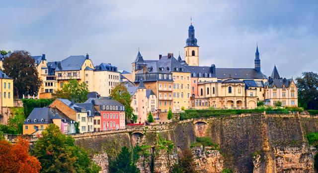 Географія Запитання-цікавинка: Яке місто є столицею Люксембургу?