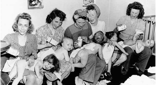 """Історія Запитання-цікавинка: Коли почалося значне і стійке збільшення народжуваності, зване """"бебі-бум""""?"""
