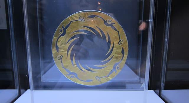"""Культура Запитання-цікавинка: На території якої держави був знайдений при розкопках золотий диск """"Птахи Золотого Сонця""""?"""