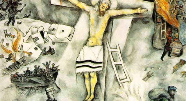 """Culture Trivia Question: """"The White Crucifixion"""" is a painting by which artist?"""