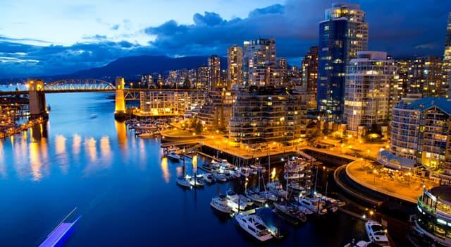 Географія Запитання-цікавинка: В якій країні розташоване місто Ванкувер?