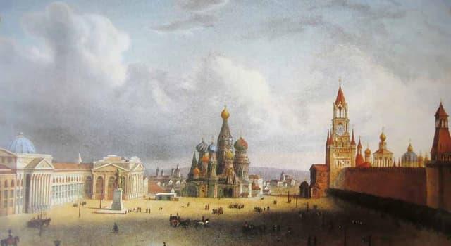 Історія Запитання-цікавинка: В якому році в Москві на Червоній площі була побудована Комедіальная храмина?