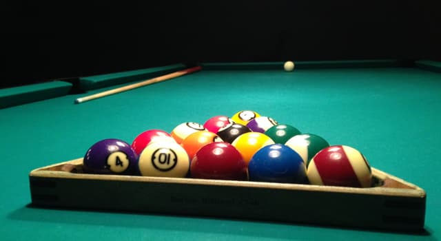 Sport Trivia Question: What number ball is striped blue in the game of pool?