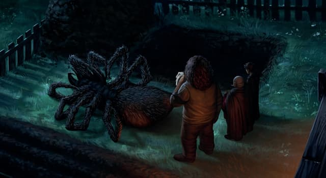 Culture Trivia Question: What's the name of a monstrous spider capable of human speech in the Harry Potter universe?