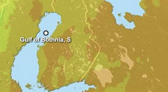 Geography Trivia Question: What two main countries border the Gulf of Bothnia?