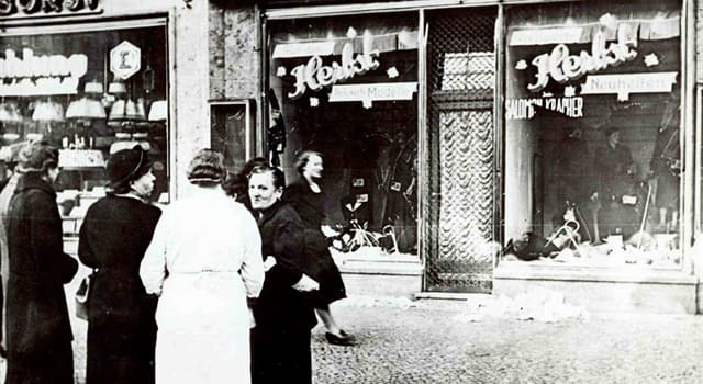 History Trivia Question: What was a pogrom against Jews on 9–10 November 1938 called?