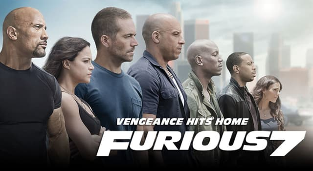 """Movies & TV Trivia Question: What year did the movie """"Furious 7"""" premiere?"""