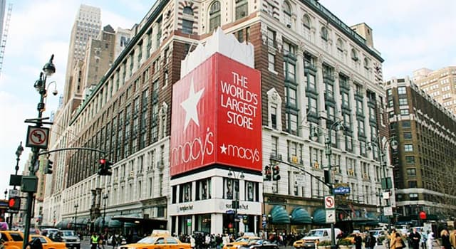 Society Trivia Question: When did U.S. retailer Macy's open its original store?