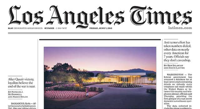History Trivia Question: When was the 'Los Angeles Times' first published?