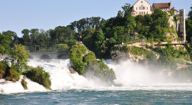 Geography Trivia Question: Where is the Rhine Falls located?