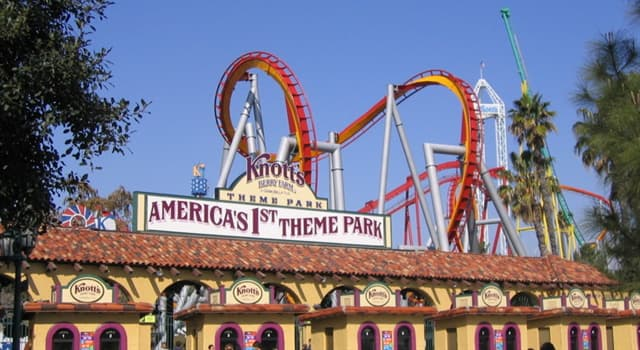Geography Trivia Question: Where is the tourism attraction, Knott's Berry Farm located?