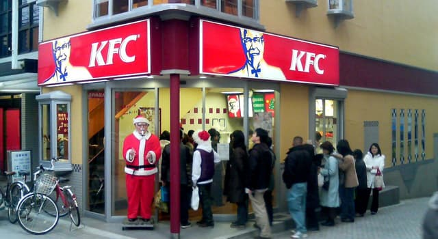 Culture Trivia Question: Which country has made a fashionable tradition of dining at Kentucky Fried Chicken at Christmas?
