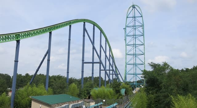 Culture Trivia Question: Which of the rollercoasters listed was the first full-circuit hypercoaster in the world?