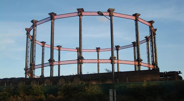 Science Trivia Question: Which of these is stored in a gasometer?