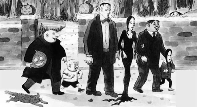 Movies & TV Trivia Question: Who created the cartoon characters for The Addams Family?